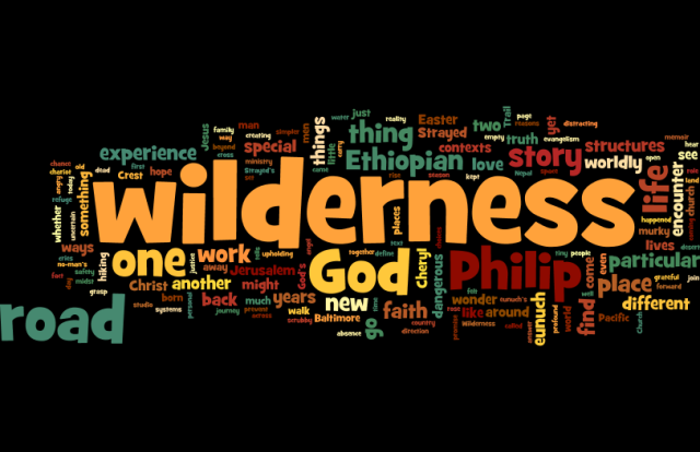 A wordle illustration of the most used words in this sermon.